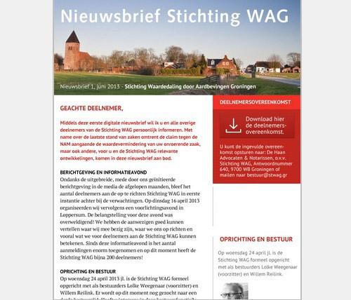 Stichting WAG nieuwsbrief 1